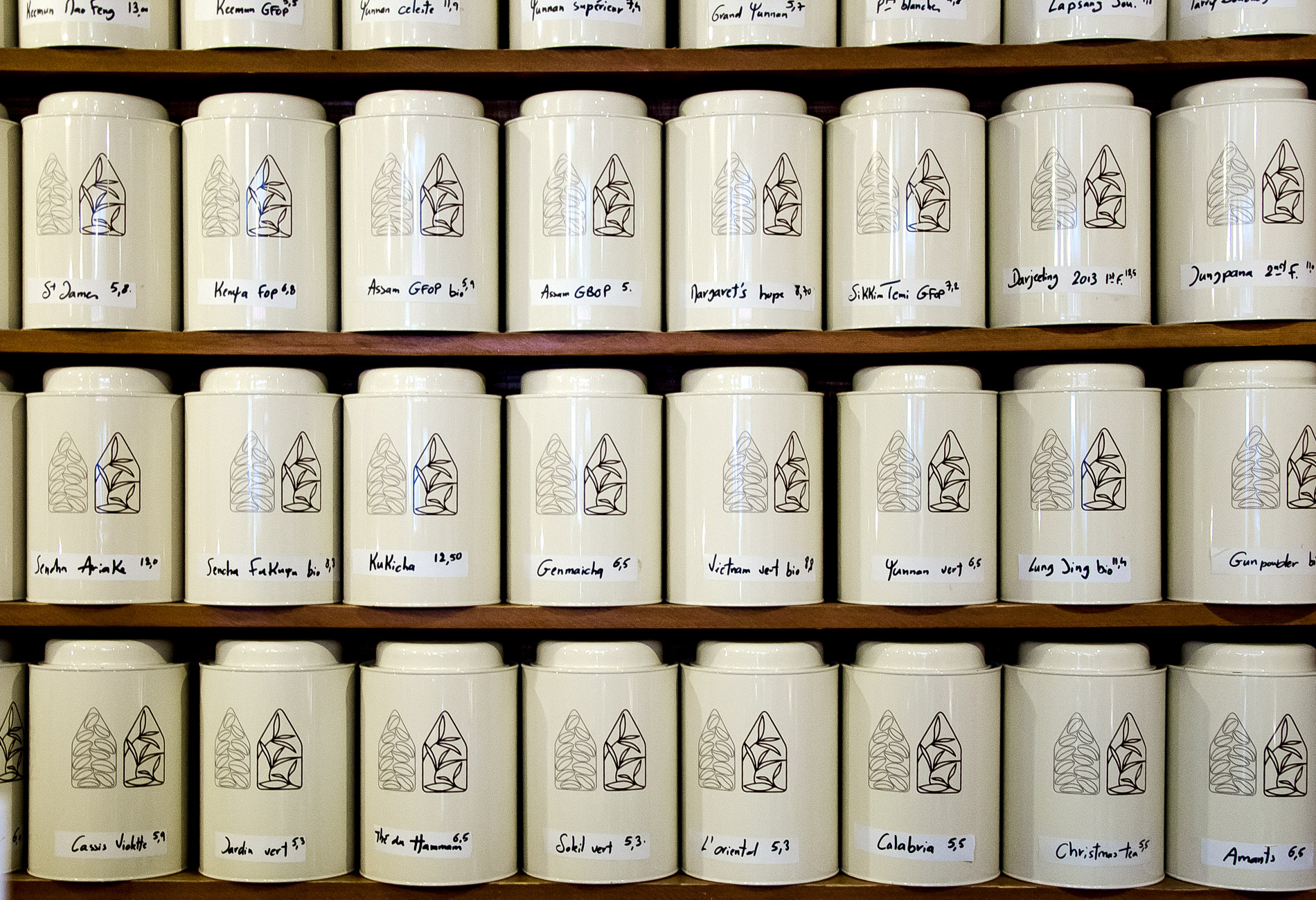 Carte des thés